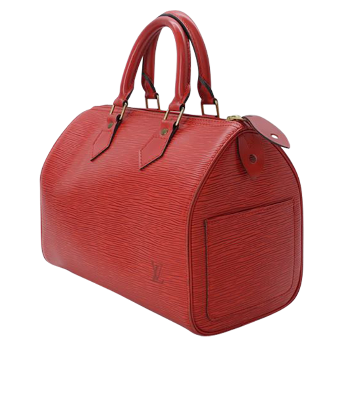 Sac Louis Vuitton Speedy 25 Cuir épi Rouge