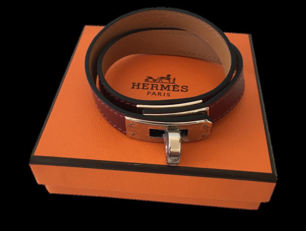 Hermes Kelly bracelet Double Tour Box Rouge H
