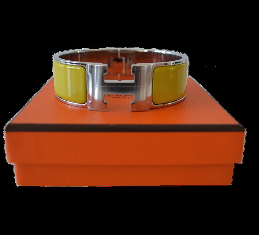 Bracelet Hermès modèle Clic H Lime