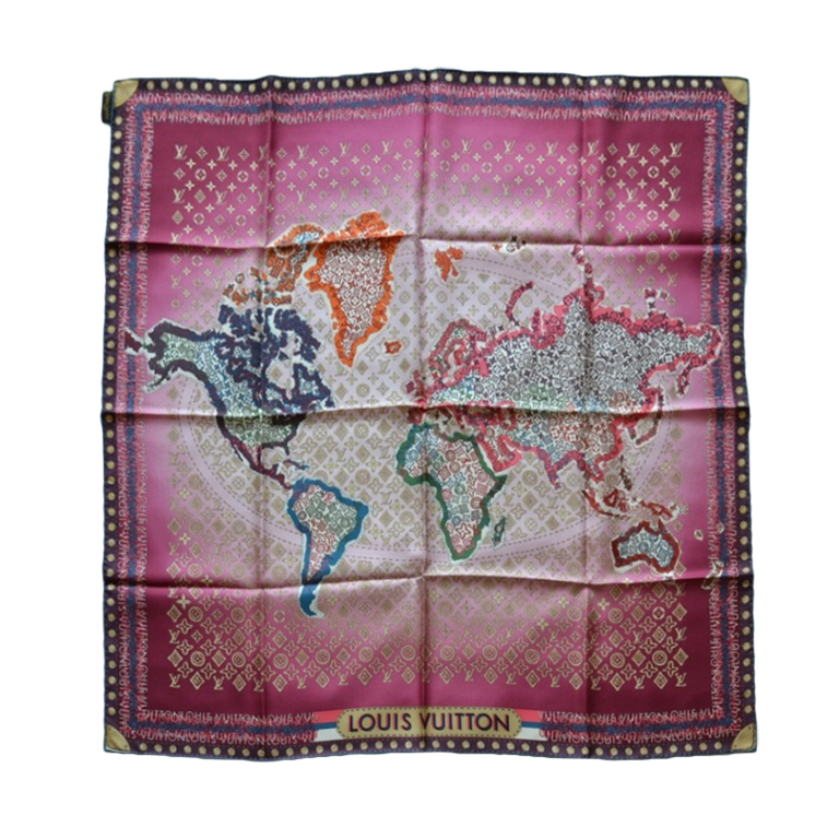 Louis Vuitton Foulard Map