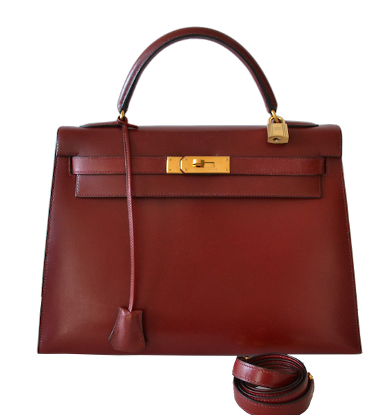 Sac Hermes Kelly 32 Box Rouge