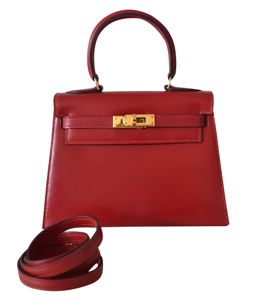 Sac Hermès Kelly 20 Box Rouge Vif