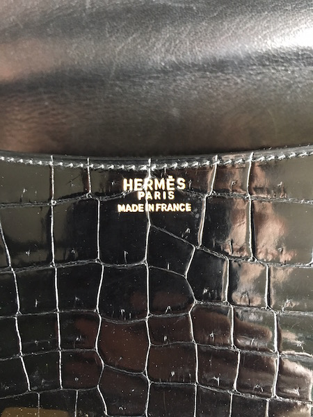 Hermes Constance 23 Black Crocodile Porosus