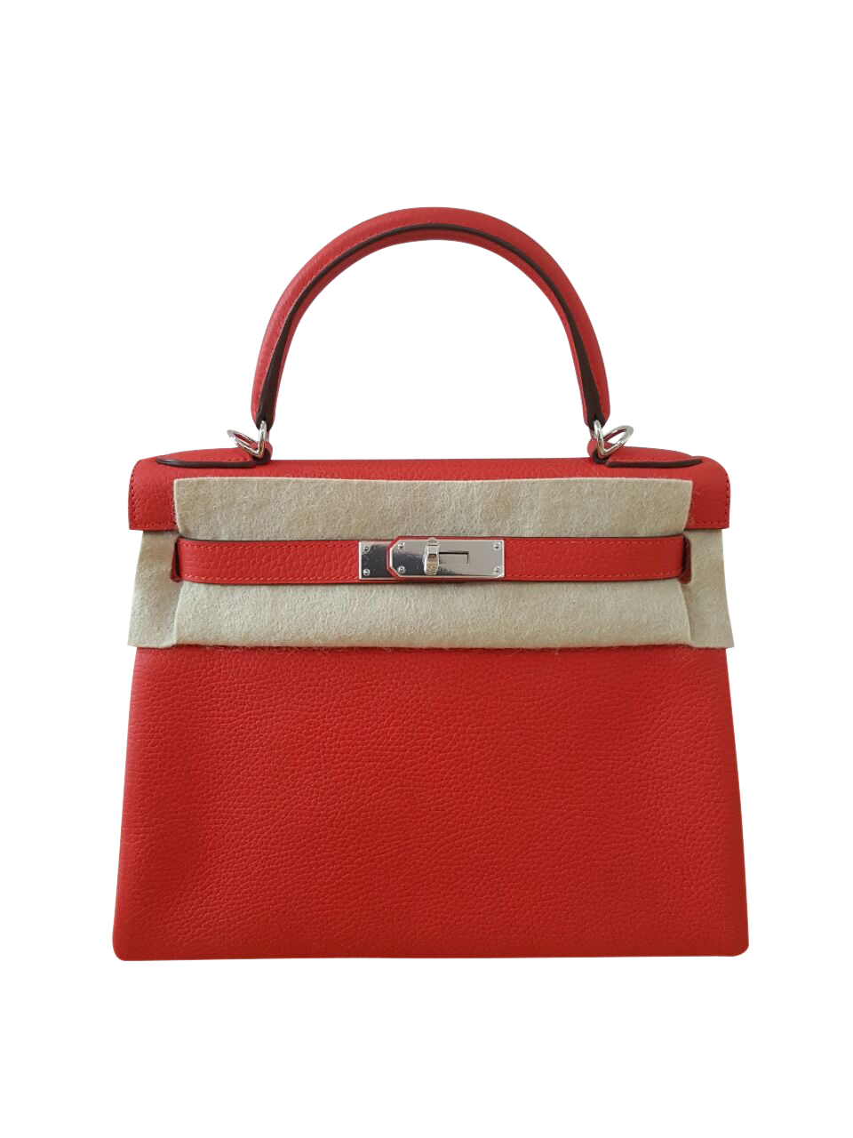Hermes Kelly 25 Togo Rouge Casaque