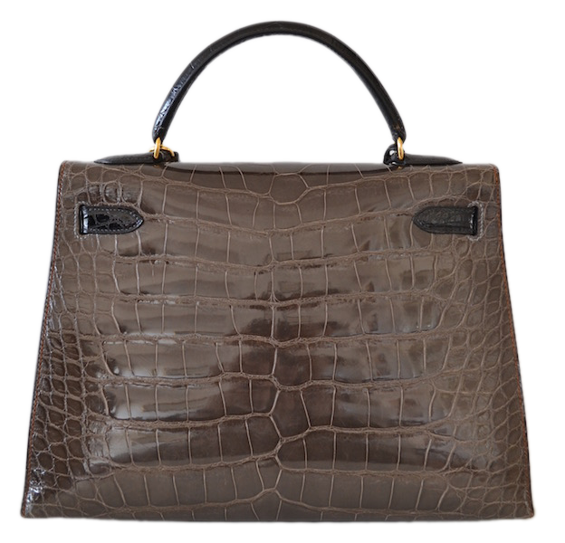 Sac Hermès Kelly 32 Tricolor en Alligator